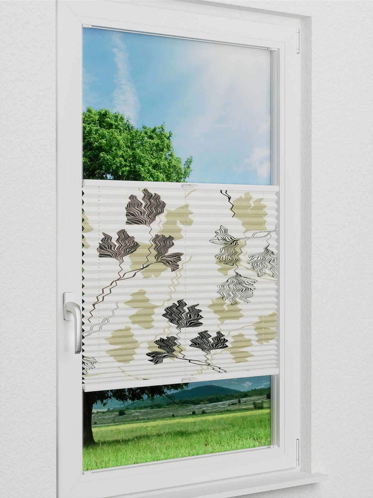 plissee sensuna plissee ginkgo tree 752vs. Black Bedroom Furniture Sets. Home Design Ideas