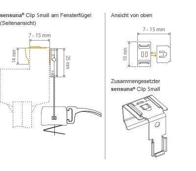 sensuna clip small set raumtextilienshop. Black Bedroom Furniture Sets. Home Design Ideas